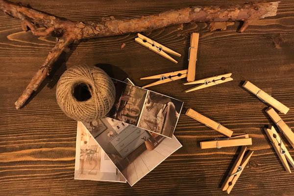 jutetråd klädnypor pinne inspiration bilder