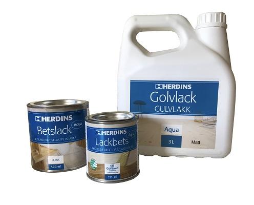 När du betsat med Lackbets Aqua kan du efterbehandla med Betslack Aqua eller Golvlack för högre slitstyrka.