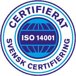 Herdins är certifierade ISO 14001