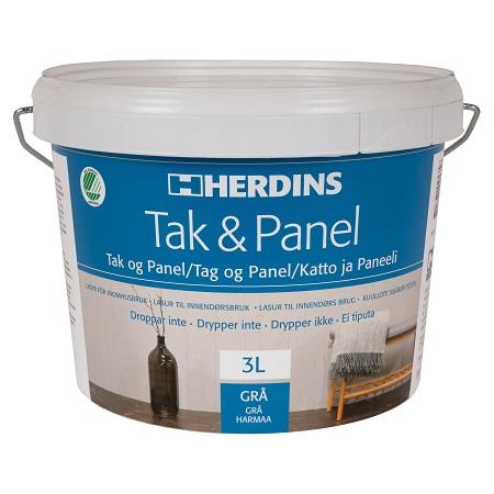 Herdins Tak & Panel Grå 3 liter lasyr för trä