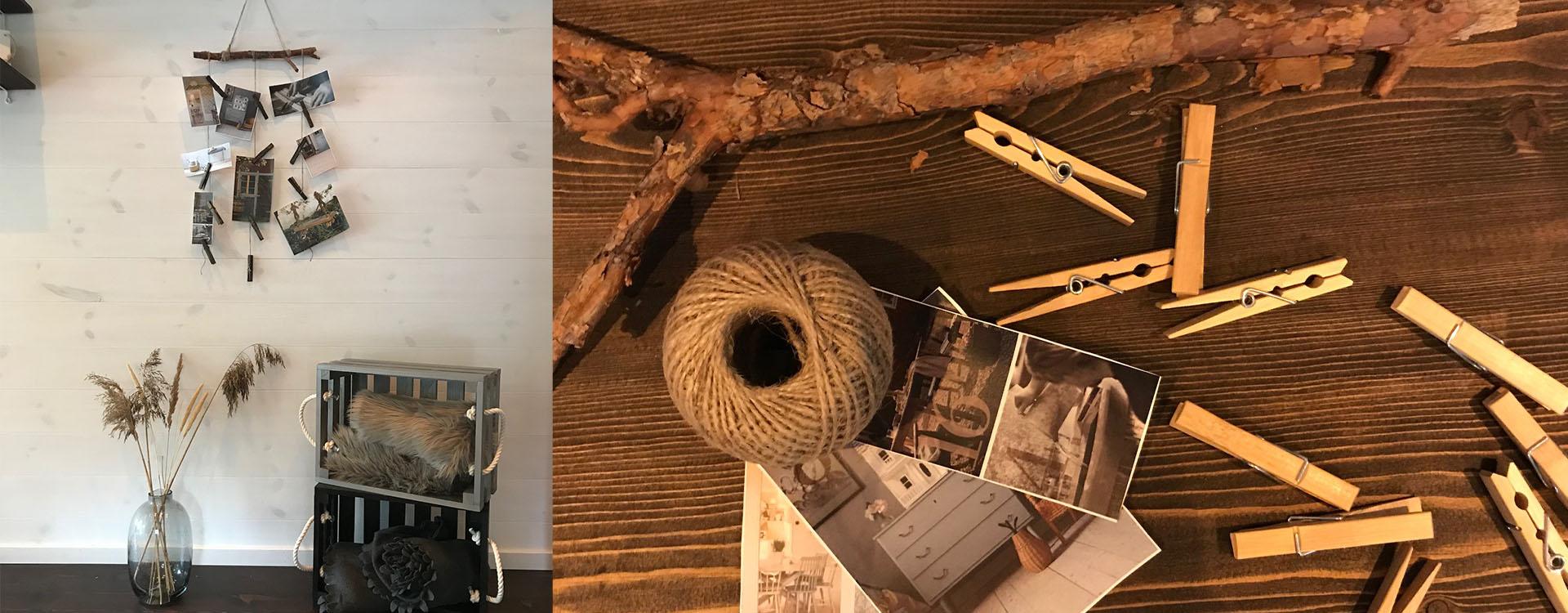 DIY betsa hängare klädnypa lackbets aqua tjära