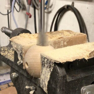 borra träkulor