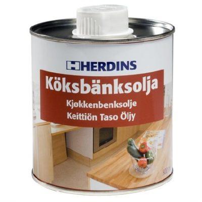 Herdins Köksbänksolja för köksbänkar ytskydd ytbehandling