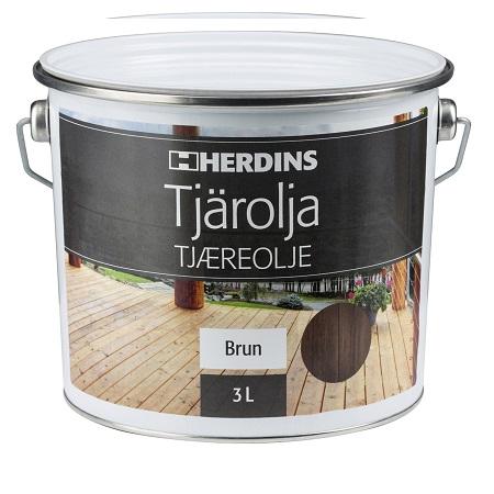 Herdins tjärolja brun för utomhusbruk uteplats